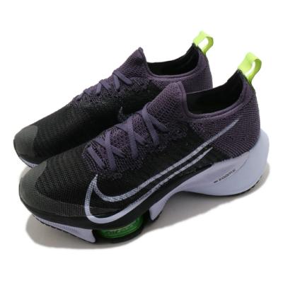 Nike 慢跑鞋 Zoom Tempo NEXT FK 女鞋 氣墊 舒適 避震 路跑 運動 健身 球鞋 黑 紫 CI9924500
