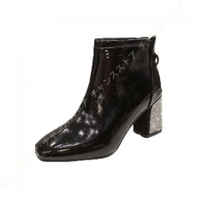サイドゴア ショートブーツ レディース ローヒール 7センチヒール 歩きやすい 痛くない ブーツ 黒 大きいサイズ カジュアルブーツ 細身 美脚 エンジニアブーツ