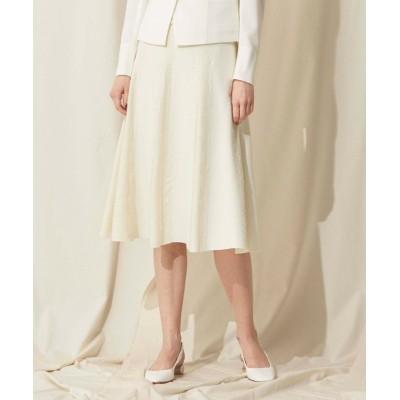 【エポカ ザ ショップ】 フレアレースニットスカート レディース ホワイト 40 EPOCA THE SHOP