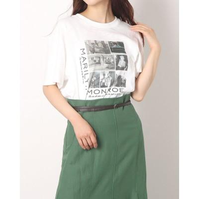 アプワイザーリッシェ Apuweiser-riche グラフィックTシャツ (白)