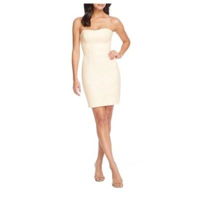 ドレスザポプレーション レディース ワンピース トップス Cindy Strapless Mini Dress CREAM