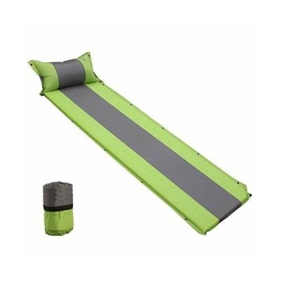 エア-マット キャンプマット キャンピングマット 超軽量 連結可能 枕付き 自動膨張式 折りたたみ 軽量 耐水加