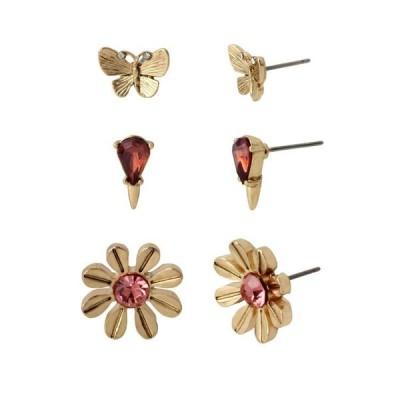 ベッツィジョンソン レディース ピアス・イヤリング アクセサリー Butterfly Stud Earrings Set Of 3 Pairs