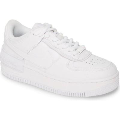 ナイキ NIKE レディース スニーカー エアフォースワン シューズ・靴 Air Force 1 Shadow Sneaker White/White/White