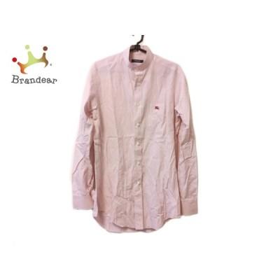 バーバリーロンドン Burberry LONDON 長袖シャツ メンズ 美品 白×ピンク 新着 20200729