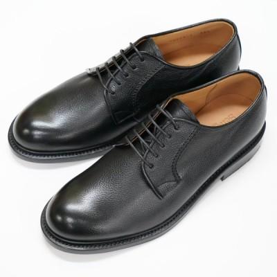 日本製グッドイヤーウエルト紳士靴 ショーンハイト 外羽根プレーン 「ライトシュリンク」型押し黒 SH308-1-LSBL ラバー底