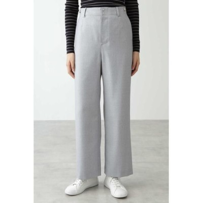 HUMAN WOMAN/ヒューマンウーマン ◆≪Japan Couture≫サキソニーパンツ ライトグレー M