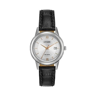Citizen Women's FE108604A EcoDrive Stainless Steel Watch with Black Leather