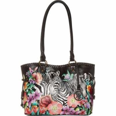 アヌシュカ Anuschka Handbags レディース ショルダーバッグ バッグ Large Drawstring Shopper 569 Playful Zebras