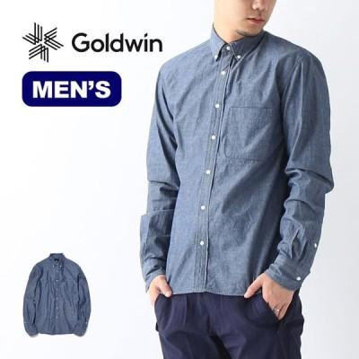 GOLDWIN ゴールドウィン B.D.カラーインディゴシャツ トップス シャツ