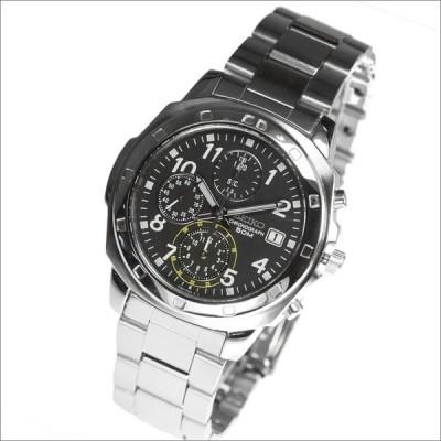 【正規品】海外SEIKO 海外セイコー 腕時計 SND195P1 メンズ クロノグラフ シルバー/ブラック