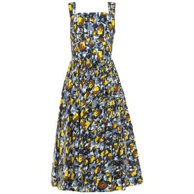 マルニ MARNI 7分丈ワンピース・ドレス ブルーグレー 44 コットン 100% 7分丈ワンピース・ドレス