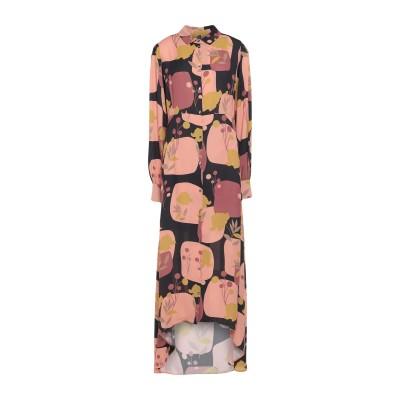 マニラ グレース MANILA GRACE 7分丈ワンピース・ドレス あんず色 38 レーヨン 100% 7分丈ワンピース・ドレス