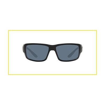 新品Costa Del Mar Men's Fantail 580P Polarized Rectangular Sunglasses, Blackout/Grey Polarized-580P, 59 mm並行輸入品