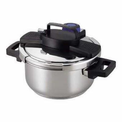 (キッチン)(鍋・フライパン)3層底ワンタッチレバー圧力鍋4.0L H-5388 1点
