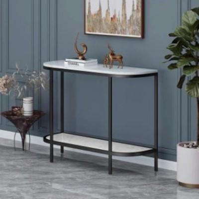 高級大理石サイドテーブル コンソールテーブル 玄関テーブル 花台 電話台 アンティーク調デザイン 幅100cm
