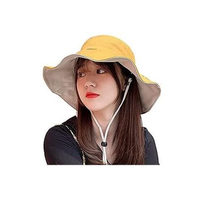 KMAZN 帽子 レディース ハット uvカット キャップ 紫外線対策 日よけ ファッション 通気 つば広 おしゃれ 可愛い ハット 旅行用 折りたた