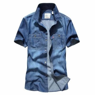 半袖シャツ デニムシャツ 半袖 デニム 在庫限りの価格 通常売価4,665円