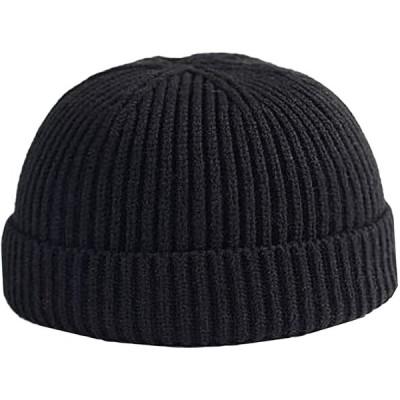 N2 storm(エヌツーストーム) メンズ ニット ワッチキャップ 帽子 リブ 秋冬 防寒 おしゃれ かっこいい BO47 (A ブラック)