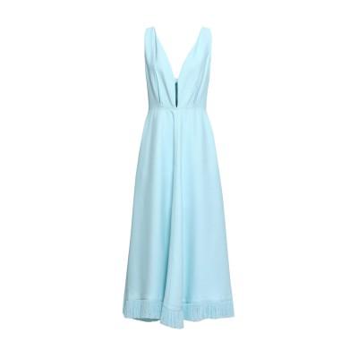 NINA RICCI ロングワンピース&ドレス スカイブルー 36 レーヨン 95% / シルク 5% ロングワンピース&ドレス