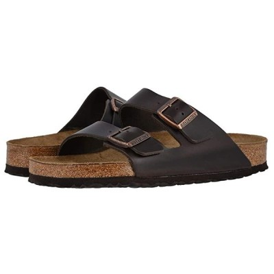 ビルケンシュトック Arizona Soft Footbed - Leather (Unisex) メンズ サンダル Brown Amalfi Leather