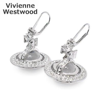 ヴィヴィアンウエストウッド ピアス62020042-W110 PINA ORB EARRINGS シルバー クリスタル アクセサリー レディース Vivienne Westwood