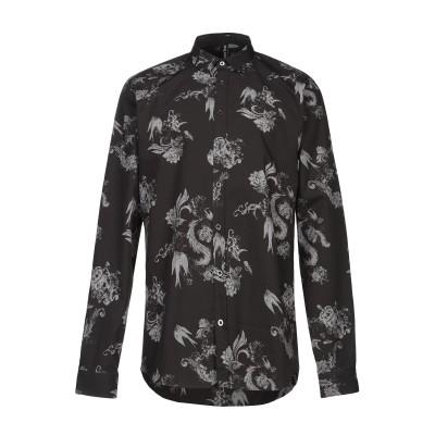 BOLONGARO TREVOR シャツ ブラック 36 コットン 100% シャツ
