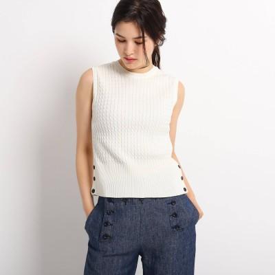 Dessin(Ladies)(デッサン:レディース)/【S~Lサイズあり・洗える・日本製】ケーブルノースリーブニット