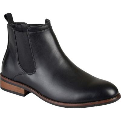 バンス Vance Co. メンズ ブーツ チェルシーブーツ シューズ・靴 Landon Chelsea Dress Boot Black Faux Leather