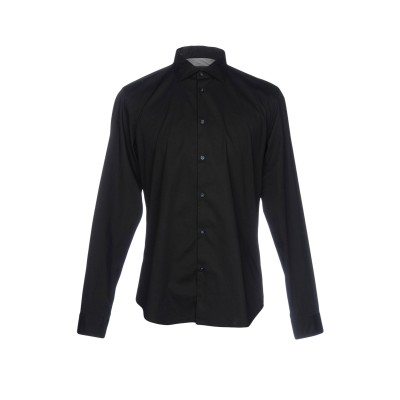 マニュエル リッツ MANUEL RITZ シャツ ブラック 39 コットン 98% / ポリウレタン 2% シャツ