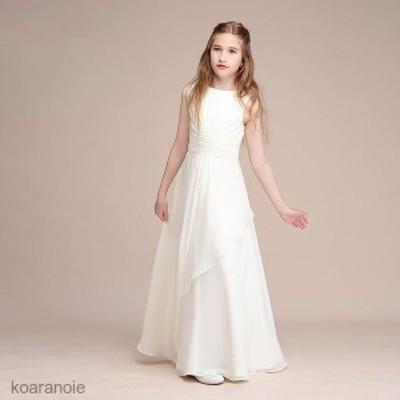ドレス キッズ ジュニア ワンピース フォーマル 結婚式 子供服 ロングドレス 子供ドレス フラワーガール ジュニアドレス    子どもドレス