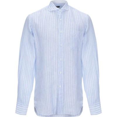 アレッサンドロ ゲラルディ ALESSANDRO GHERARDI メンズ シャツ トップス linen shirt Sky blue