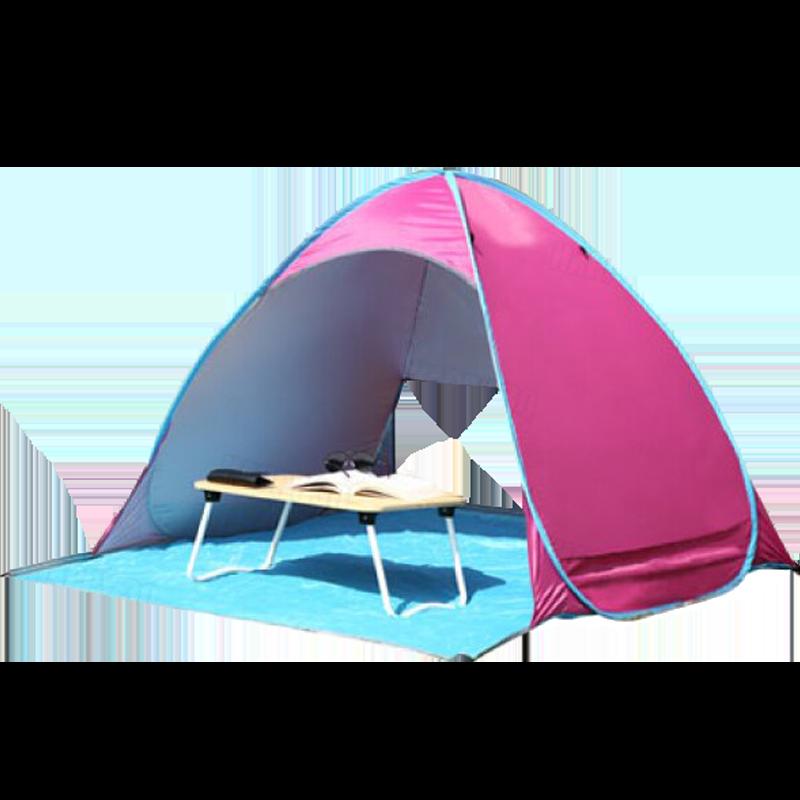 【自動快速安裝】可摺疊收納 野餐帳 野外露營帳篷 海邊帳篷 蒙古包-淺藍/深藍/粉/紅【AAA6042】