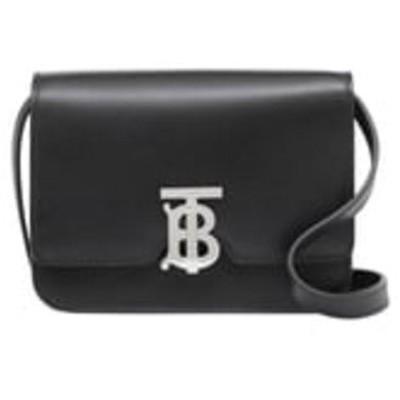 バーバリー ショルダーバッグ バッグ レディース Mini TB Leather Crossbody Bag Black
