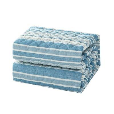Bedsure 敷きパッド 夏用 シングル 綿100 100×205cm 敷きパット 綿100% しじらおり 敷パッド 洗える ベッドパッド コットン