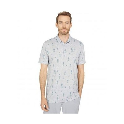 TravisMathew トラビスマシュー メンズ 男性用 ファッション アクティブシャツ Havana Nights Polo - Heather Grey