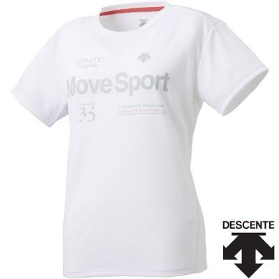 ◆◆○送料無料 メール便発送 <デサント> レディース サンスクリーンTシャツ DMWPJA51 (WH) 半袖Tシャツ DMWPJA51-WH