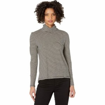 メイドウェル Madewell レディース トップス Whisper Cotton Turtleneck in Stripe True Black