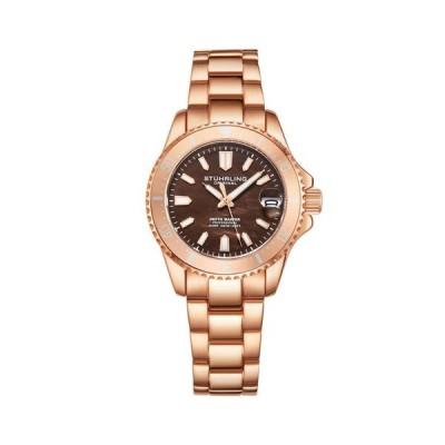 ストゥーリング レディース 腕時計 アクセサリー Women's Rose Gold Stainless Steel Bracelet Watch 32mm