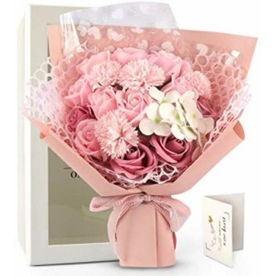 FAUHAL白い,ピンク?薇 優雅な姫のような ソープフラワー フラワー クリスマスバラ 石鹸花 バラ 花束 入学式 誕生日 祝い 記念日 母の日