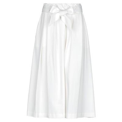 チルコロ 1901 CIRCOLO 1901 ロングスカート ホワイト 42 コットン 96% / ポリウレタン 4% ロングスカート
