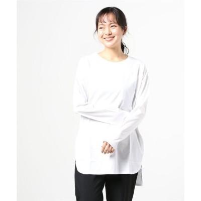 tシャツ Tシャツ ハイゲージ天竺ボーダー無地長袖Tシャツ