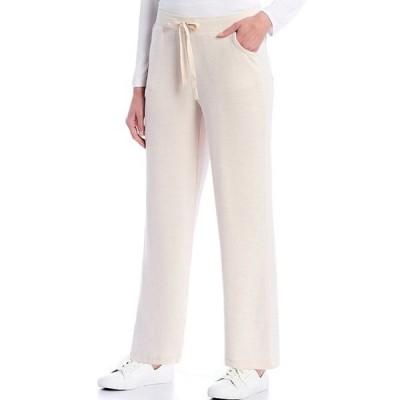 イントロ レディース カジュアルパンツ ボトムス Heathered Knit Straight Leg Pull-On Pants