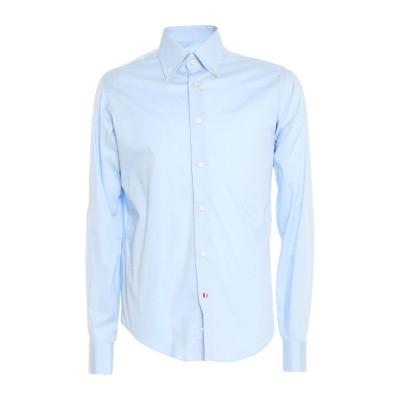 ALDO BUGATTI シャツ スカイブルー 37 コットン 97% / ポリウレタン 3% シャツ