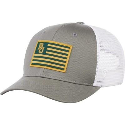 トップ・オブ・ザ・ワールド 帽子 アクセサリー メンズ Top of the World Men's Baylor University Brave Snapback Cap Grey Light 01