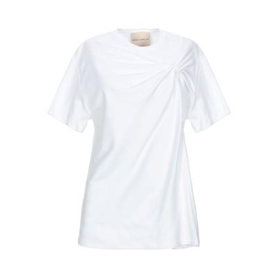 エリカ カヴァリーニ ERIKA CAVALLINI T シャツ ホワイト L コットン 100% T シャツ