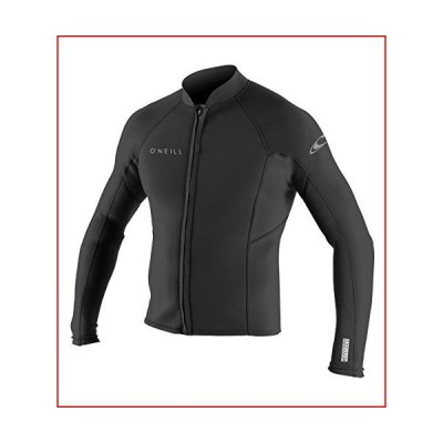 O'Neill Wetsuits O'Neill Men's Reactor-2 1.5mm Front Zip Long Sleeve Jacket, Black, X-Large【並行輸入品】