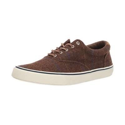 Sperry Mens Striper II CVO Wool Plaid Sneaker, Brown Plaid, 8