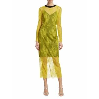 ダイアンフォンファステンバーグ レディース ワンピース Long-Sleeve Lace Midi Dress