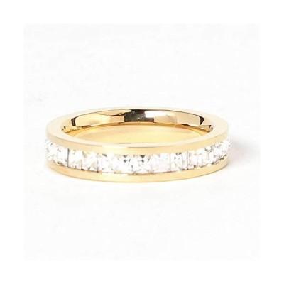 指輪 エタニティ レディース ステンレス ジルコニア 金属アレルギー 8サイズ
